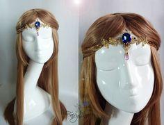 Tiara inspirada en la Princesa Zelda de FairyCaveShop en Etsy