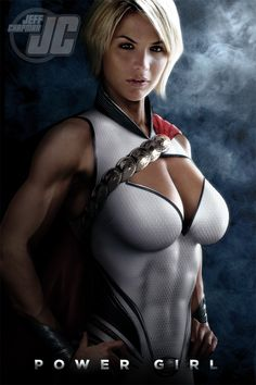 POWER GIRL •Jeff Chapman. I like this design, but I still can't believe in 2013 no one has made a Power Girl who covers her chest