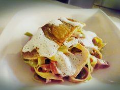 #Saibling #geräuchert auf bunten #Tagliatelle #prosciutto2pastalicious Tacos, Mexican, Pasta, Ethnic Recipes, Heaven, Food, Sky, Meal, Essen