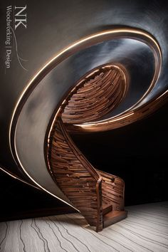 Award-Winning Custom Curved Staircases, Spiral Stairs, Circular Stairs, and northwest custom wood furniture, Floating Staircase, Curved Staircase, Modern Staircase, Grand Staircase, Staircase Design, Stair Design, Spiral Staircases, Stairs Architecture, Interior Architecture