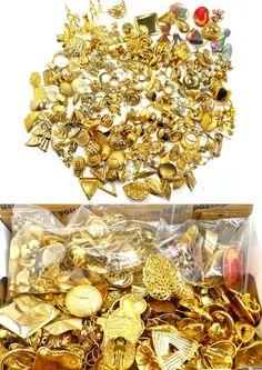LOT / Destash of Vintage Single Earrings - All Gold Tone Metal by MarlosMarvelousFinds, $29.99
