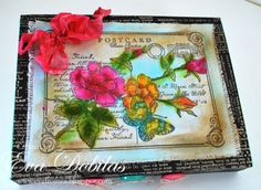 For the love of life: JustRite Papercrafts: Rose Postcard Background Stamp