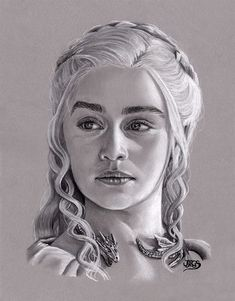Daenerys Targaryen by JuanGaleote on DeviantArt Daenerys of the House Targaryen, the First of Her Name Dessin Game Of Thrones, Game Of Thrones Drawings, Game Of Thrones Art, Realistic Pencil Drawings, Pencil Art Drawings, Art Drawings Sketches, Portrait Sketches, Portrait Art, Daenerys Targaryen Art