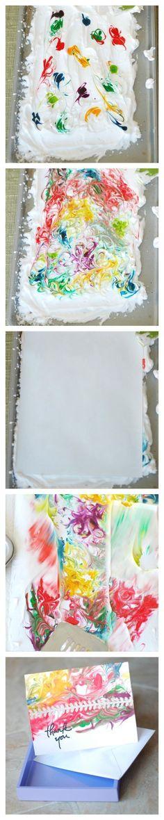 DIY Paper Marbling