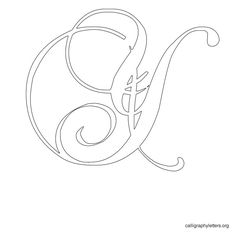 Calligraphy Letter Stencil Y