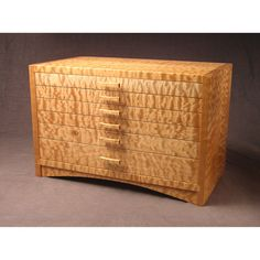 Quilted Bigleaf Maple Dovetailed Jewelry Box by westcreekstudio, $2400.00