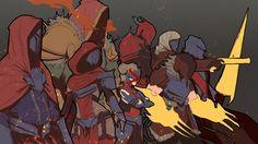 Red Knight - Style Test by JoshCorpuz85.deviantart.com on @DeviantArt