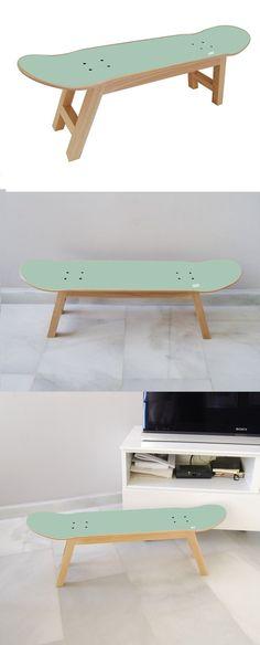 gift skater 2017 - Skateboard Stool for the Best Bedroom for Skateboarder Surfer Teen