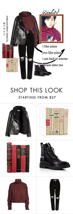 """Black And Red (Park Jimin)"" by betulkizilirmaak ❤ liked on Polyvore featuring Kendall + Kylie, McQ by Alexander McQueen and River Island"