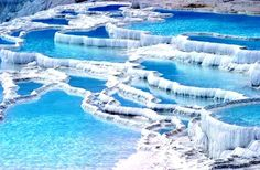 Pamukkale, Turkey - This has been a popular spa since the Romans built the spa city of Hierapolis.
