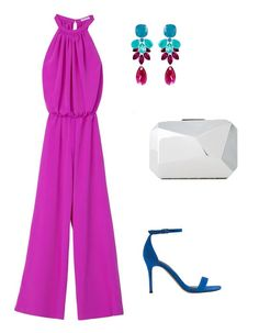Look para invitada a bodas de 2015 con mono fucsia Outfit Vestidos, Magenta Wedding, Fiesta Outfit, Short Long Dresses, Wedding Jumpsuit, Outfit Combinations, Classy Outfits, Dress To Impress, Dress Outfits