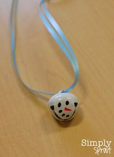 Month of Joy: A Southern Snow Day ~ Simply Sprout Christmas Necklace, Christmas Bells, Christmas Snowman, Christmas Holidays, Christmas Gifts, Christmas Ornaments, Snowman Tree, Childrens Christmas, Christmas Crafts For Kids