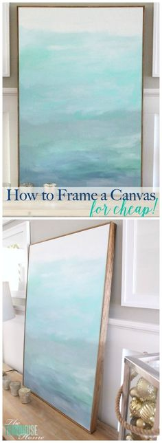 No WAY! This is such an easy (and cheap!) way frame a canvas. It makes a $22 DIY art piece look like it's worth much more!! Visit and find your canvas