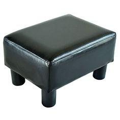 Homcom Modern Small Faux Leather Ottoman / Footrest Stool - Black HOMCOM http://smile.amazon.com/dp/B00E6BY37K/ref=cm_sw_r_pi_dp_kDqXwb1GVP420