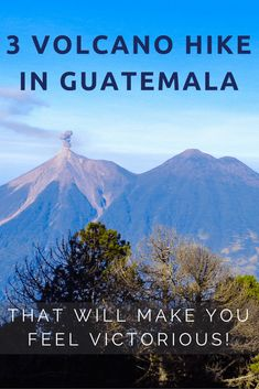If you want to get up close and personal with three iconic volcanoes in Guatemala and are up for a challenge, The Central Highlands Trilogy (Trilogia in Spanish) may just be your thing! It's the toughest hiking challenge in Guatemala! It consists of