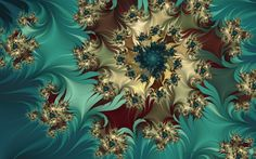 Abstrakt Fraktale  Türkis Weiß Maroon Blau Farben Swirl Abstrakt Wallpaper