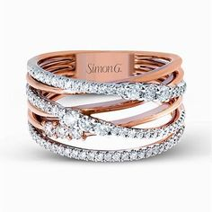 Rose gold and diamond fashion ring - Simon G's Fabled Collection