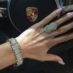Diamond Ring And Bracelet. Jewelry Box, Jewelry Accessories, Fine Jewelry, Jewellery, Bling Bling, Diamond Rings, Diamond Jewelry, Diamond Are A Girls Best Friend, Beautiful Rings