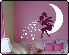 Our newest Fairy Wall Decal with Blowing Heart Kisses was created by popular demand and its rapidly becoming one of our all time best sellers! This