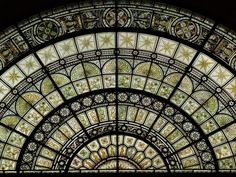 Description: Cambridge, England: Fitzwilliam Museum: stained glass (grisaille) window (1870-1875)