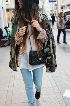 Camo always looks best when paired with a hint of glitter!