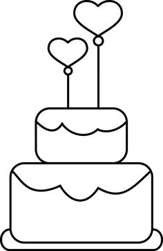 It's Friday and I have a new digital stamp. Here it is.   And here is one more cake just a little modified.