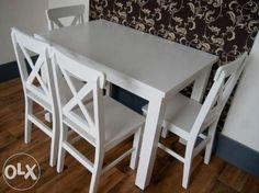 850 zł: zestawy kuchenne stół+4 krzesła wykonany z drewna  sosnowego lub bukowego,  krzesła , korpus stołu i nogi z litego drewna ,blaty stołów z litego drewna lub z płyty laminowanej .możliwa zmiana wymiarów...