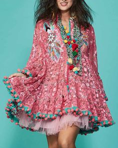 443439312ced Dress Antica Sartoria Lace Positano Fashion Hippie Chic Vestito A Costa