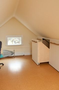 Attic Remodel Diy and Finished Attic Closet. Loft Storage, Narrow Rooms, Traditional House, Remodel, Full House Renovations, Attic Renovation, Loft, Renovations, Traditional Home Office