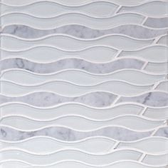 The Tile District  - Aqualina in Carrara Marble and Glass Mosaics at Tango Tile