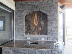 Thunderstone Quarries Black Rundle Natural Stone from Kodiak Mountain Stone. www.KodiakMountain.com Natural Stones, Mountain, Nature, Black, Home Decor, Homemade Home Decor, Black People, The Great Outdoors, Decoration Home
