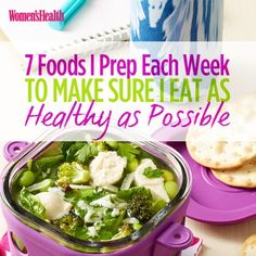 Healthy Tips 7 Foods I Prep Each Week to Make Sure I Eat as Healthy as Possible - Keri Glassman, R., shares the routine that helps her make more nutritious choices all week long. Healthy Meal Prep, Healthy Tips, Healthy Snacks, Healthy Recipes, Eat Healthy, Veggie Snacks, Kid Snacks, Lunch Snacks, Detox Recipes