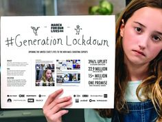March for Our Lives - Generation Lockdown Advertising Awards, March For Our Lives, Commercial Ads, Mind The Gap, Concept Board, Guerrilla, Tv Commercials, Experiential, Loreal Paris