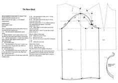 The Basic Sleeve Block. From: Flat Pattern Cutting and