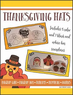 THANKSGIVING HATS CRAFT FOR KIDS! 7 different Thanksgiving hats to encourage children to practice handwriting, coloring, scissor skills, glue use and pretend play! Creative Arts And Crafts, Fun Crafts To Do, Hat Crafts, Crafts For Kids, Kids Diy, Learn Handwriting, Improve Your Handwriting, Thanksgiving Hat, Thanksgiving Activities