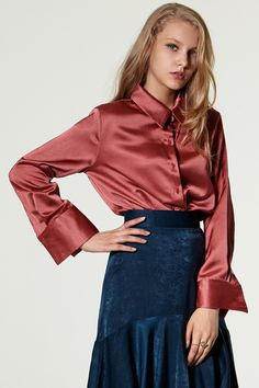 Josie Silk Blouse Discover the latest fashion trends online at storets.com