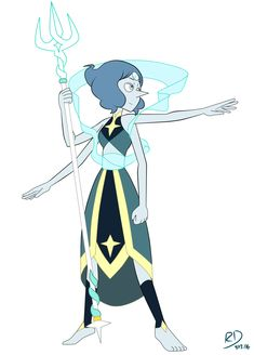 I imagine Lapis and Pearl's fusion looking close to this if they fuse in the show.