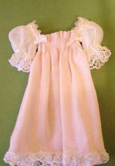 how to: nightgown with faux smocking