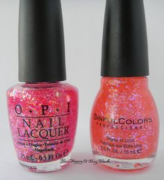 OPI I Lily Love You vs Sinful Colors Pink Ansen bottle comparison | Be Happy And Buy Polish http://behappyandbuypolish.com/2015/08/03/opi-i-lily-love-you-sinful-colors-pink-ansen-comparison/