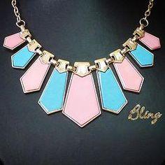Collar de Colores Pastel Modelo 0120 $150 www.facebook.com/BlingMx