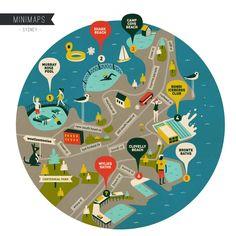 Sydney Swimming Spots Minimap - For more minimaps check: www.superminimaps.com
