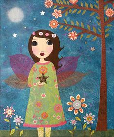 Fairy Collage Painting Art By Sascalia by sascalia, ideas for decoupage project