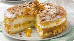 Torta soffice con le pere allo zafferano.