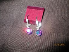 Swarovski Crystal Crystal AB2X  Earrings  SW-E-16
