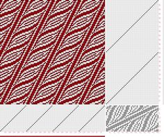 draft image: Page 1 Figure 3, Posselt's Textile Journal, December 1915, 24S, 48T, Great pattern for a scarf.