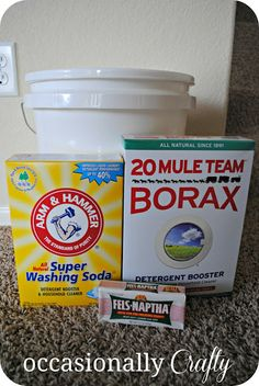 Occasionally Crafty: Making My Own- Laundry Detergent