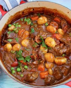 An easy and hearty homemade beef stew made with fork tender grass fed chuck roast beef, gnocchi potato dumplings in a smoky paprika gravy.