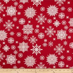 From Studio E, this cotton print is perfect for quilting, apparel and home decor accents.  Colors include red and white.
