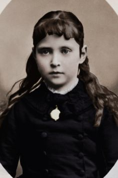 Alix of Hesse 1878. This little girl will one day become the wife of the last Russian Tsar Nicholas II.