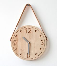 RAW Clock. Made of solid maple wood left untreated. I need this on my wall.